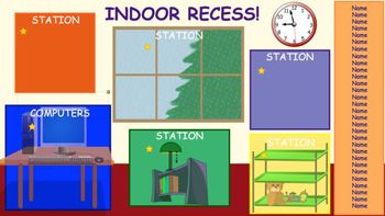 Indoor Recess - Station Chooser for the SmartBoard