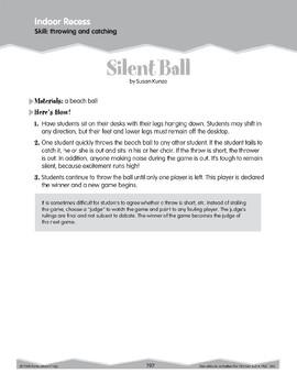 Indoor Recess: Throw and Catch (Ten-Minute Activities)