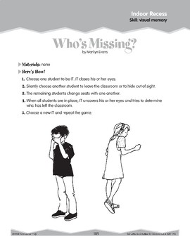 Indoor Recess: Visual Memory (Ten-Minute Activities)