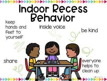 Indoor Recess Visuals *Editable*