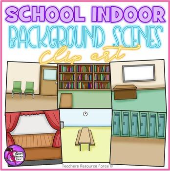 School Indoor Background Scenes clipart