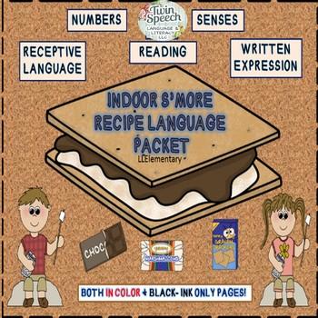 Speech & Language Therapy: Yummy Indoor S'more Recipe Language Unit