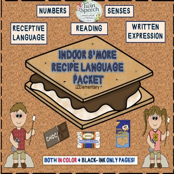 Speech & Language Therapy: Yummy Indoor S'more Recipe Lang