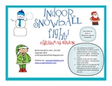 Indoor Snowball Fight:  Christmas Freebie
