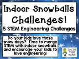 Indoor Snowballs STEM Challenge Pack - STEM Engineering Challenges, Pack of 5