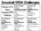Indoor Snowballs STEM Challenge Pack - STEM Engineering Challenges, Pack of 5