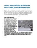 Indoor Team Building Activities for Winter