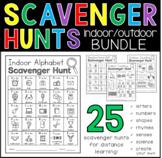 Indoor and Outdoor Scavenger Hunt BUNDLE