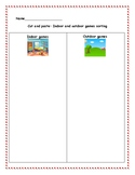 Indoor and outdoor games sorting + Extra fun