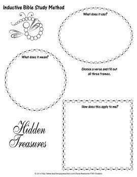 Inductive Bible Study Method Printable