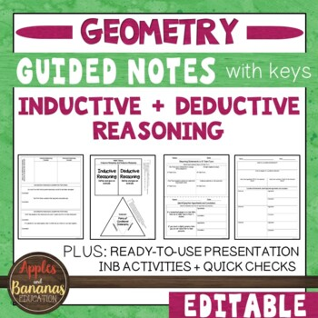 Inductive and Deductive Reasoning- Interactive Note-Taking Materials