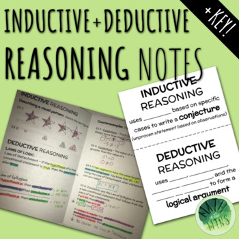 Inductive and Deductive Reasoning Notes
