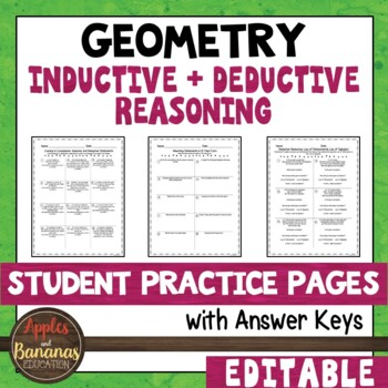 Inductive and Deductive Reasoning - Student Practice Pages