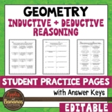 Inductive and Deductive Reasoning - Editable Student Pract