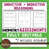 Inductive and Deductive Reasoning Tests - Geometry Editabl