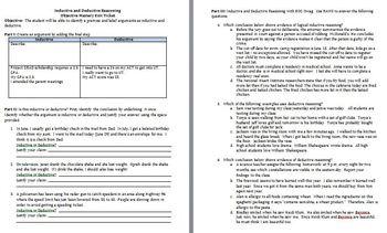 Inductive Deductive Reasoning Worksheets - Checks Worksheet