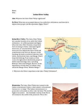 Indus River Valley Achievements