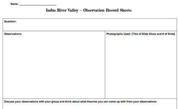 Indus River Valley - Become an Archeologist!
