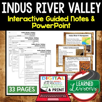 Indus River Valley Civilization Guided Notes and PowerPoints, Google