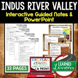 Indus River Valley Civilization Guided Notes and PowerPoin