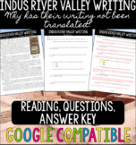 Indus River Valley Civilization - Why Their Writing Has No