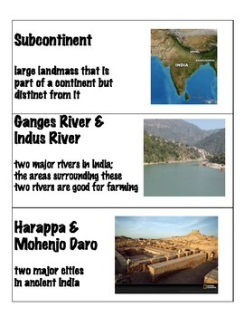 Indus River Valley Word Wall!