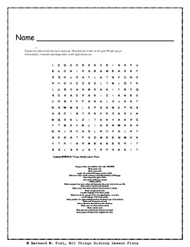Indus River Valley Civilizations Word Search