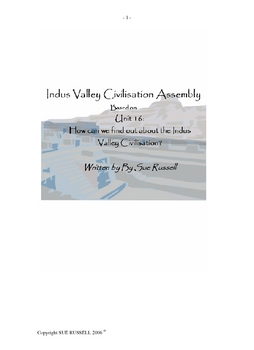 Indus Valley Civilization Class Play or Assembly