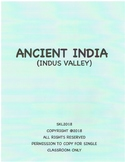Indus Valley Civilization Introduction/Review