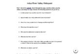 Indus Valley Civilization Webquest