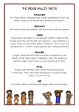 Indus Valley Fact Cards