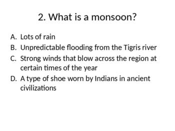 Indus Valley civilization quiz