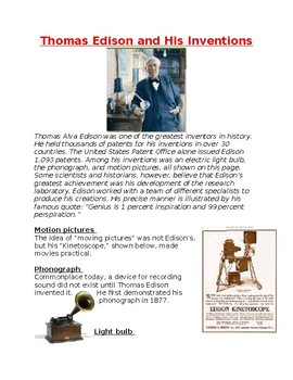 Industiral Revolution: Thomas Edison and His Inventions