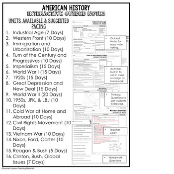 Industrial Age Guided Notes and PowerPoints, US History,  Print, Digital, Google