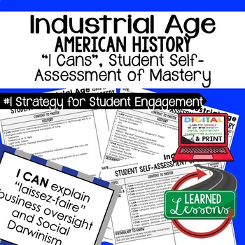 Industrial Age I Cans Student Self Assessment of Mastery (American History)