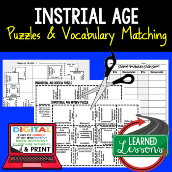Industrial Age Vocabulary Activity Puzzle (Print and Digital)
