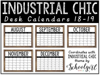Industrial Chic Desk Calendars