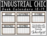Industrial Chic Desk Calendars
