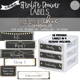 Industrial Chic - Editable Sterilite Drawer Labels