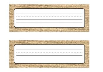 Industrial Chic Farmhouse Chalkboard Shiplap Classroom Decor Editable NAMEPLATES