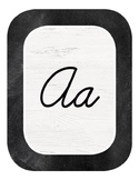 Chalkboard Industrial Chic Farmhouse Classroom Decor ALPHABET CARDS Cursive