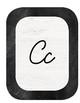 Chalkboard Industrial Chic Farmhouse Classroom Decor ALPHABET CARDS Cursive