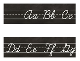 CHALKBOARD Industrial Chic Farmhouse Style Classroom Decor ALPHABET LINE Cursive