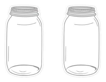 Industrial Chic Farmhouse Style Classroom Decor Mason Jar Cutouts Editable