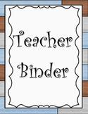 Industrial Chic Teacher Binder