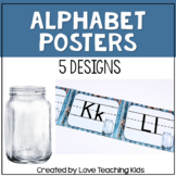 Industrial Classroom Decor Alphabet Posters