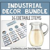 Industrial Farmhouse Classroom Decor Bundle