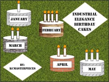 Industrial Elegance Class Birthday Cakes