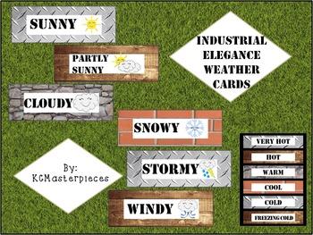 Industrial Elegance Weather Cards