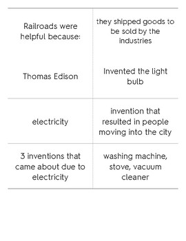 Industrial Inventions Study Cards
